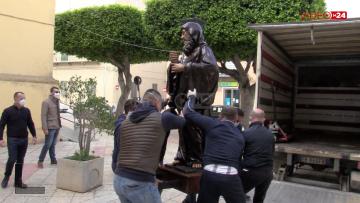 Statua San Francesco di Paola restauro